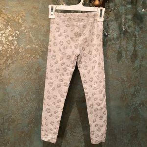 Like new! Gray Glitter Animal Print Leggings Sz 5T
